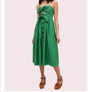 Kate Spade Tie-Front Dress in Desert Palm